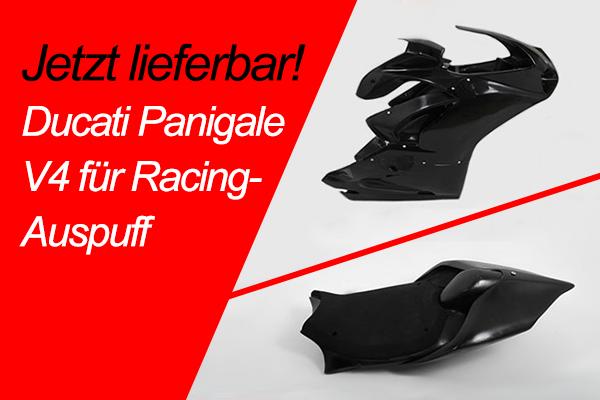 Verkleidung für Ducati Panigale V4 mit Racing-Auspuff